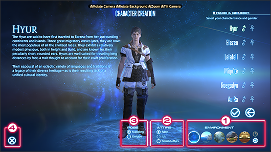 Character Creation Final Fantasy XIV A Realm Reborn Wiki