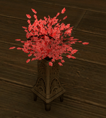red cherry blossoms gamer