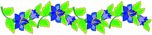 horizontal flowers flower clipart animated leaves light rule fg