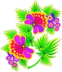 border flowers clipart line flower purple yellow horizontal animated rules floral animations drawing fg dumielauxepices orange
