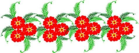 flowers horizontal flower clipart animated rules yellow light butterflies fg