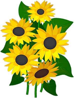free sunflowers - animated