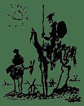 Picasso, Don Quixote, 1955