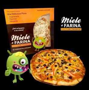 Diseño de empaques de pizza para Miele e Farina
