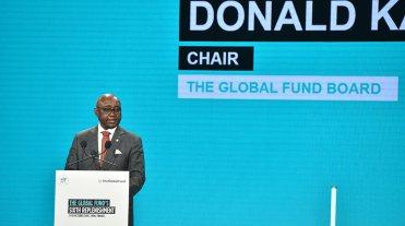 ドナルド・カベルカ グローバルファンド理事会議長 The Global Fund / David O'Dwyer