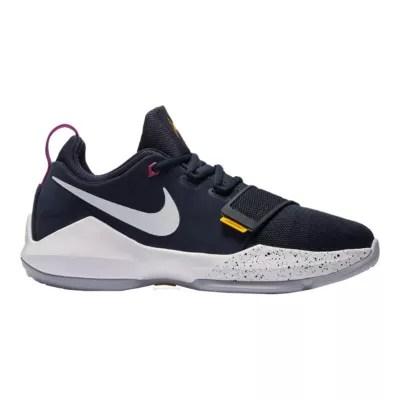 Nike Kids Pg 1 Grade School Basketball Shoes Black Gold
