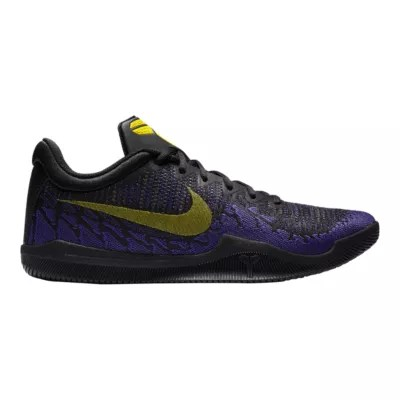 Nike Men S Mamba Rage Basketball Shoes Black Yellow