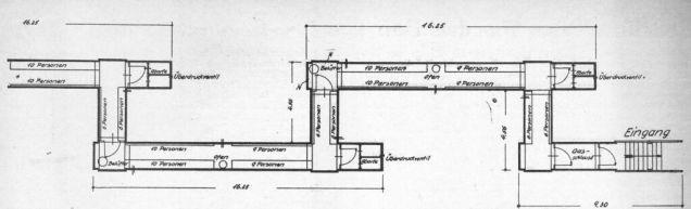 LS.-Deckungsgraben gerade Form. Die erhaltenen Deckungsgräben belegen, dass nicht jeder den Bestimmungen entsprach.