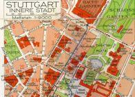 Ausschnitt aus dem Stuttgarter Stadtplan ca. 1938.