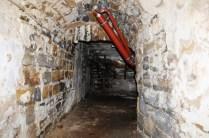 Die Braukeller waren aus Sandsteinquadern gemauert worden.