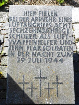 Nach dem 29. Juli wurde die Stellung aufgegeben, die Batterie verlegte nach Heumaden.