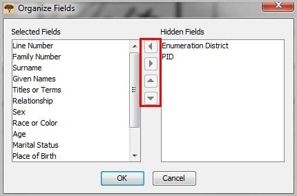 Organizing And Hiding Indexing Fields Familysearch