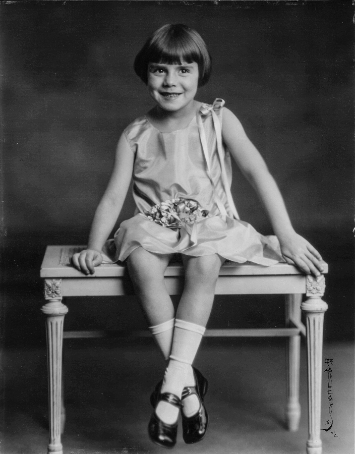 Young girl from 1920s
