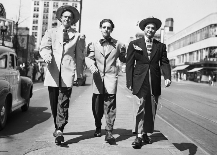 1940s fashion - men dressed in zoot suits