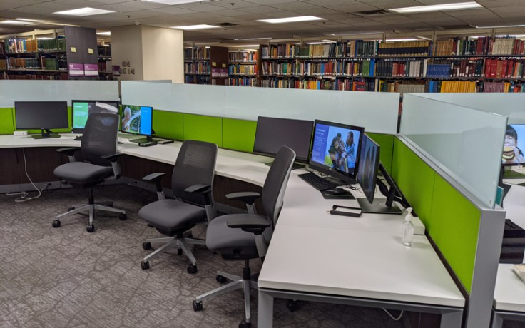 Upgraded technology after library remodel.