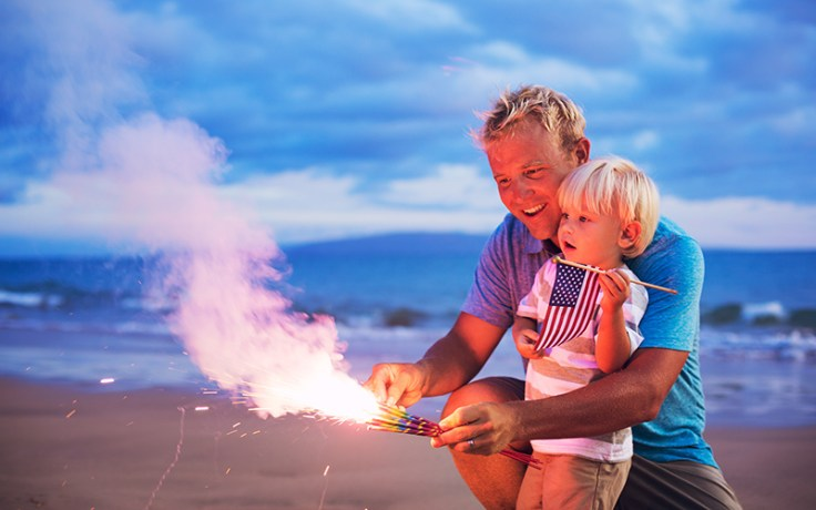The tradition of fireworks on the 4th of July came from the first 4th of July celebration in 1777.