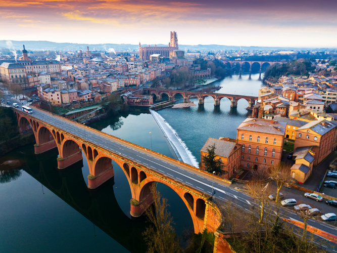 A bridge at Albi in  France