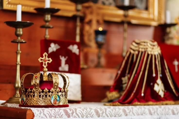 a crown at an armenian wedding.