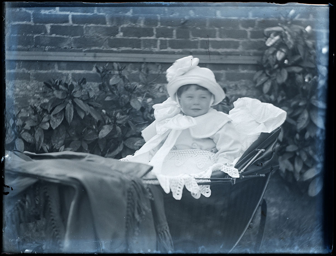 1900s baby in a stroller