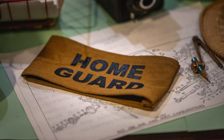 British Home Guard hat on a desk