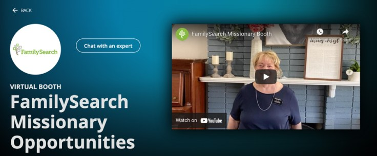 virtual familysearch missionary booth