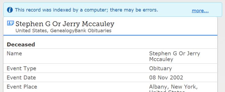 Correct indexing errors