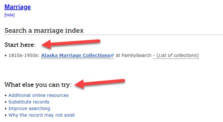 how to on a marriage index in guided research