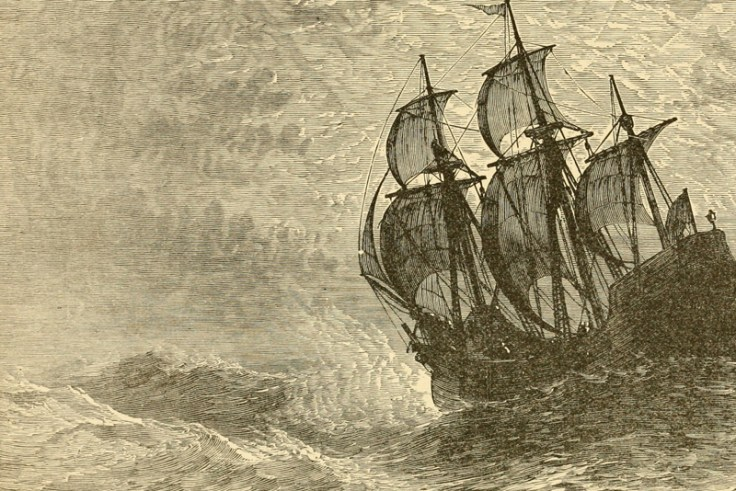 mayflower on rough seas