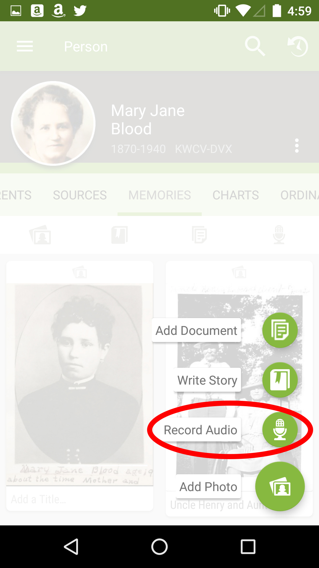 Using FamilySearch Apps to Record Oral Histories