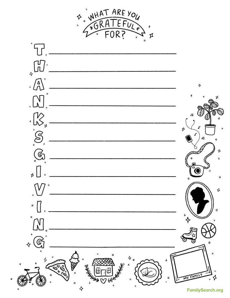 thanksgiving activities worksheet