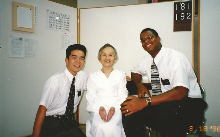 Thom Reed as a missionary in Japan.