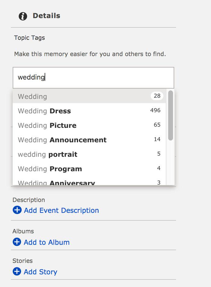 topic tags screenshot