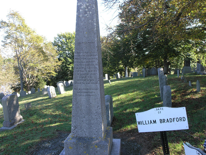 William Bradford's grave stone