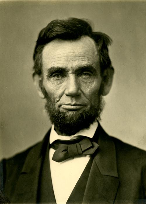 Portrait of President Abraham Lincoln.