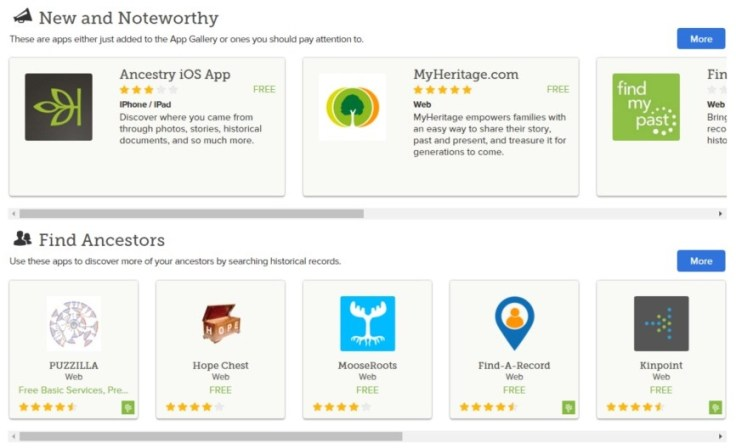 The app gallery on FamilySearch.org is a one-stop-shop for getting all the apps you need to find, connect, organize, and explore your family.