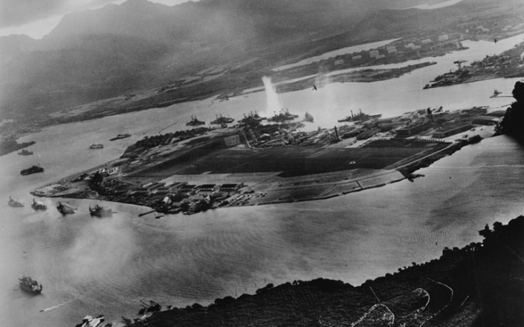 Attach on Pearl Harbor. Image from above.