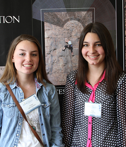 Girls attending The BYU Conference on Family History and Genealogy.