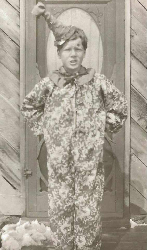 Vintage clown costume from about 1914.