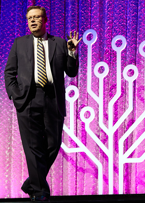 Clark Gilbert speaking at the RootsTech Innovation and Technology Forum in the year 2020.
