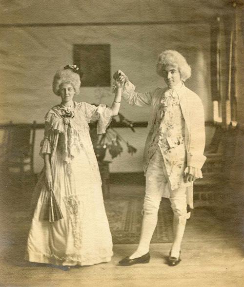 18th century ballroom costumes for Halloween.