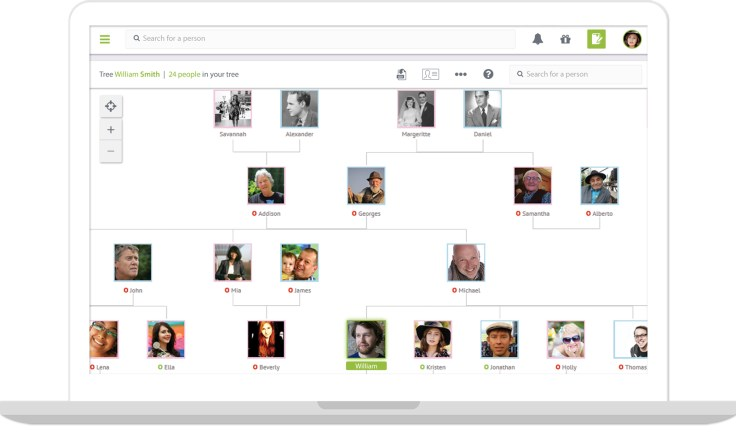 Famicity can pull from your FamilySearch family tree