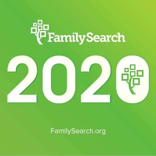 FamilySearch logo with 2020 feature image.