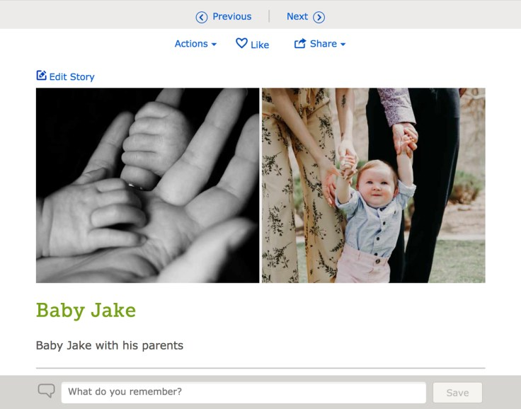Record your favorite memories, now with multiple photos, in FamilySearch's Family Tree.