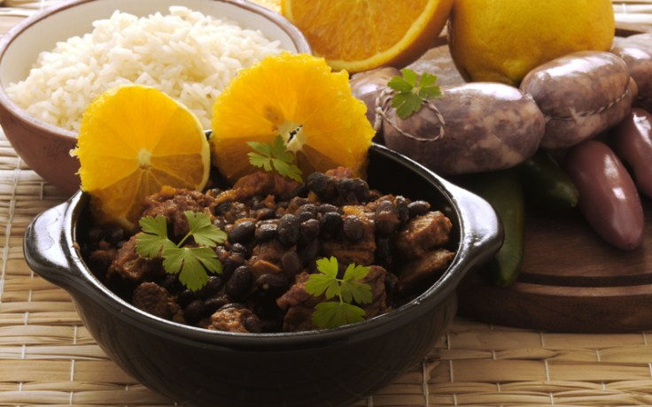 Traditional Brazilian feijoada, pork and black bean stew.