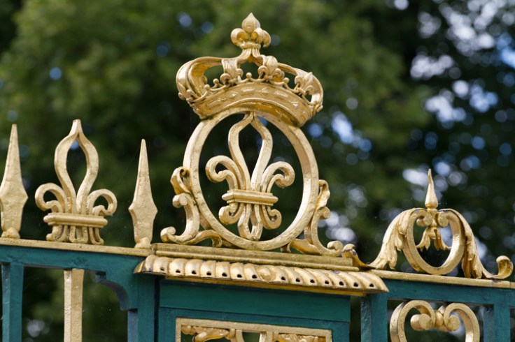 fleur de lis on a gate to the palace at versailles