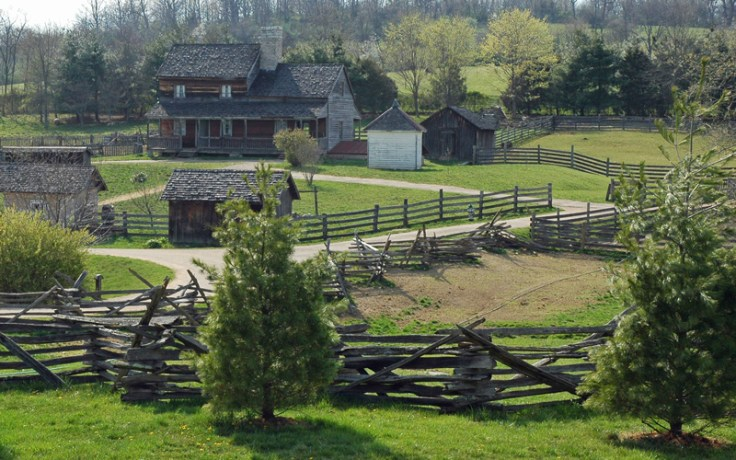 Frontier Culture Museum, Staunton, Virginia. Landscape of the living history attraction
