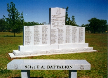 the 951st battalion memorial.