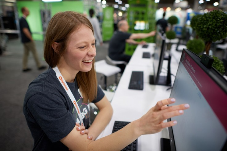 A girl participates in RootsTech from a previous year.