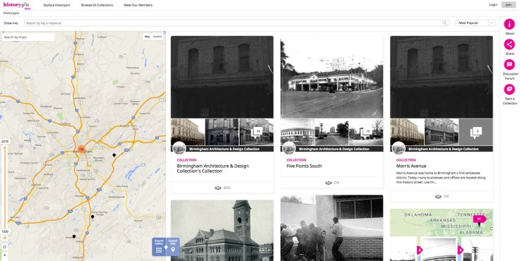 Historypin.org is a useful website that gives users a place to come together to share photos and stories to celebrate an area's local history.