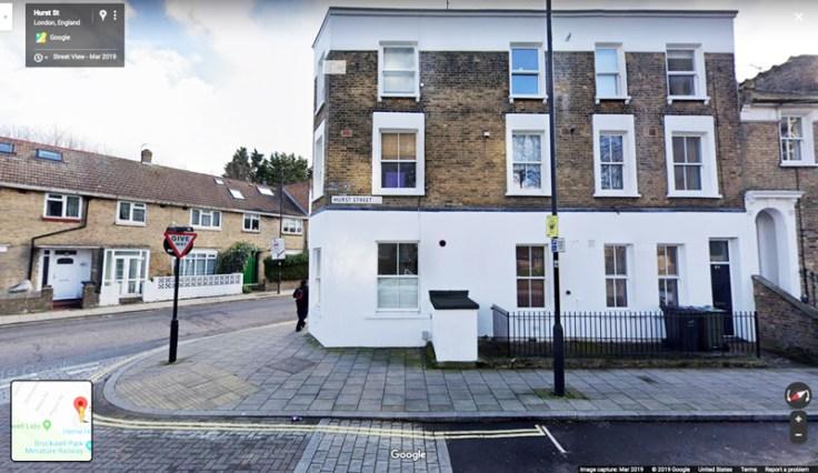 A google image of Hurst Street.